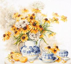 Cross stitch kit Flower tea - Chudo Igla (Magic Needle)