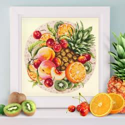 Borduurpakket Exotic Fruits - Chudo Igla