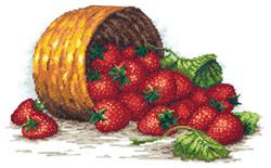 Borduurpakket Strawberry basket - Chudo Igla (Magic Needle)