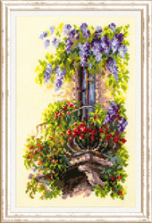 Borduurpakket Blossoming Balcony - Chudo Igla (Magic Needle)
