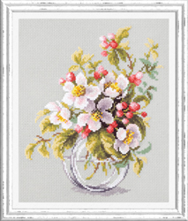 Cross stitch kit Blooming Apple Tree - Chudo Igla