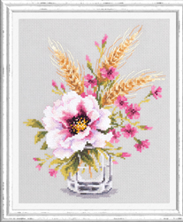 Cross stitch kit Poppy and Maiden Pinks - Chudo Igla