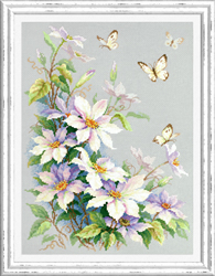 Cross stitch kit Clematis - Chudo Igla