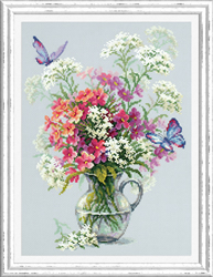 Cross stitch kit Phlox and Yarrow - Chudo Igla