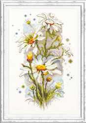 Borduurpakket White Daisies - Chudo Igla (Magic Needle)