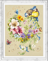 Cross stitch kit Melody of Your Heart - Chudo Igla