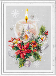 Cross stitch kit Christmas Candle - Chudo Igla