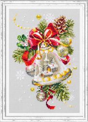 Cross stitch kit Christmas Bell - Chudo Igla