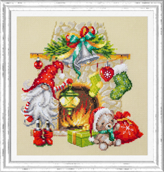 Cross stitch kit Waiting for Christmas - Chudo Igla