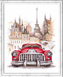 Cross stitch kit Retro Cadillac - Chudo Igla (Magic Needle)