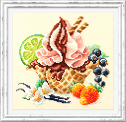 Cross stitch kit Vanilla Ice Cream - Chudo Igla