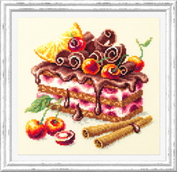 Cross stitch kit Cherry Cake - Chudo Igla
