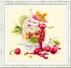 Cross stitch kit Cherry Dessert - Chudo Igla