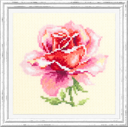Cross stitch kit (m) Pink Rose - Chudo Igla