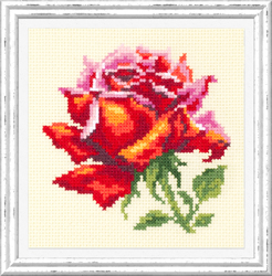 Cross stitch kit Red Rose - Chudo Igla