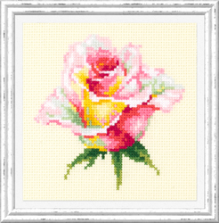 Cross stitch kit Blooming Rose - Chudo Igla