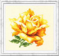 Cross stitch kit Yellow Rose - Chudo Igla