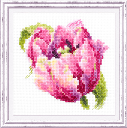 Cross stitch kit Pink Tulit - Chudo Igla