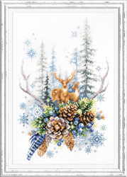 Borduurpakket Winter Forest Spirit - Chudo Igla