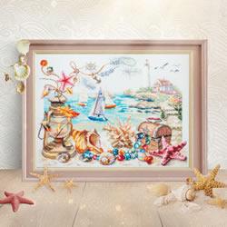 Cross stitch kit Seaside Breeze - Chudo Igla
