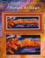Cross Stitch Chart Wildlife Panorama Horses at Dawn - Cross My Heart