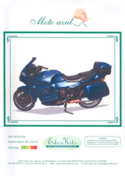 Cross Stitch Chart Moto Azul - Eder
