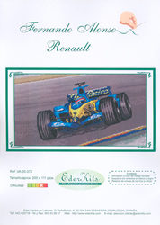 Cross Stitch Chart Fernando Alonso Renault - Eder