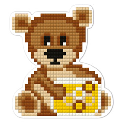 Diamond Painting Bear Cub Magnet - Freyja Crystal