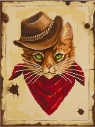 Diamond Painting Cowboy Cat - Freyja Crystal