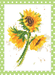 Diamond Painting Watercolor sunflowers - Freyja Crystal