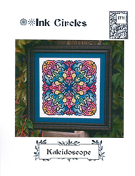 Cross Stitch Chart Kaleidoscope - Ink Circles