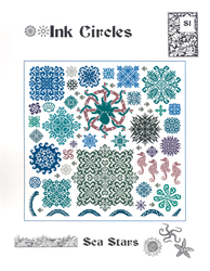 Cross Stitch Chart Sea Stars - Ink Circles