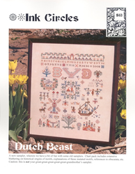 Cross Stitch Chart Dutch Beast - Ink Circles