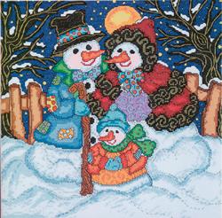 Cross Stitch Kit Snow Family - Janlynn
