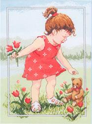 Cross Stitch Kit Tulips for Teddy - Janlynn