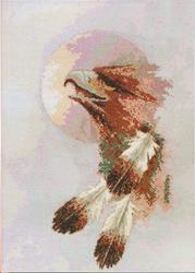 Cross Stitch Kit Eagle Moon - Janlynn