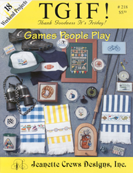 Cross Stitch Chart Games People Play - Jeanette Crews Designs