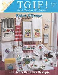 Borduurpatroon Retro Kitchen - Jeanette Crews Designs