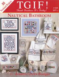 Borduurpatroon Nautical Bathroom - Jeanette Crews Designs