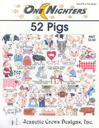 Borduurpatroon 52 Pigs - Jeanette Crews Designs