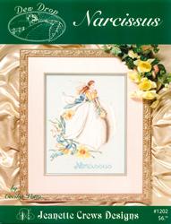 Borduurpatroon Dew Drop: Narsissus - Jeanette Crews Designs