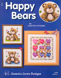 Borduurpatroon Happy Bears - Jeanette Crews Designs