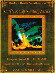 Cross Stitch Chart Dragon Guard II - Kustom Krafts