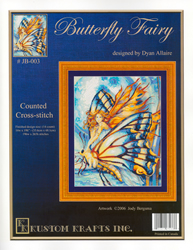 Cross Stitch Chart Butterfly Fairy - Kustom Krafts