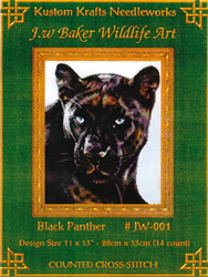Cross Stitch Chart Black Panther - Kustom Krafts