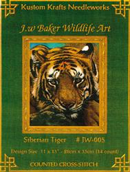 Borduurpatroon Siberian Tiger - Kustom Krafts