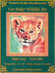 Cross Stitch Chart Baby Lion - Kustom Krafts