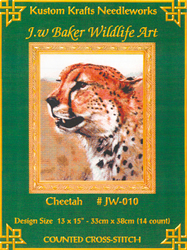 Cross Stitch Chart Cheetah - Kustom Krafts