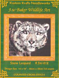 Cross Stitch Chart Snow Leopard - Kustom Krafts