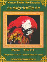 Borduurpatroon Macaw - Kustom Krafts